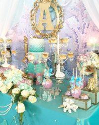 Beautiful Golden Mermaid Baby Shower - Baby Shower Ideas ...