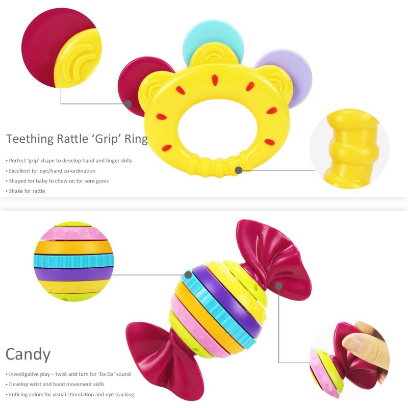 Teething rattle'Grip' Ring and candy toy