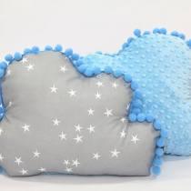 Decoratie kussen minky wolkje Stars blauw Tiny Star