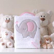 Deken olifantje roze
