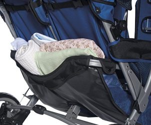 Foundations Worldwide Foundations Regette Blue 3 Passenger Stroller basket