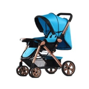 Angel Baby Two-way Four-wheel Folding Aluminum Alloy Baby Stroller (Blue)