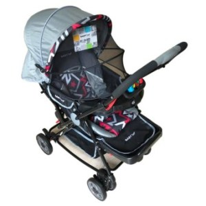 Baby 1st Stroller S-036CR with Rocking System (Grey)