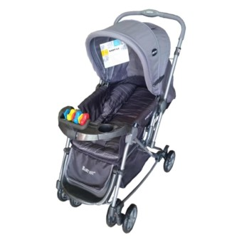 Baby 1st Stroller with Reversible Handle and Rocking Feature S-036CR (GRAY)