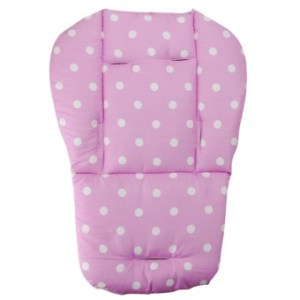 Baby Infant Stroller Seat Pushchair Cushion Cotton Mat White DotPink