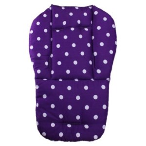 Baby Infant Stroller Seat Pushchair Cushion Cotton Mat White DotPurple
