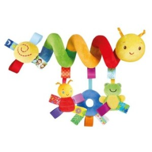 Baby Stroller Spiral Hanging Toy Cute Animals Shape Soft Infant Crib Cot Toy with Ringing Bell Colorful - intl