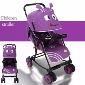 Baby Strollers Ultra-Portable Child Carts Kids Trolley (Violet)