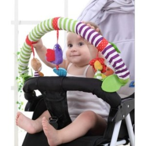 Buggy Stroller Bed Arch with Plush & Musical Toys - intl