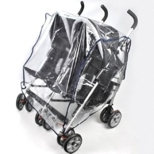 Cocotina Transparent Baby Outdoor Nipper Double 360 Stroller Rain Cover Windproof Anti Dust Side By Side