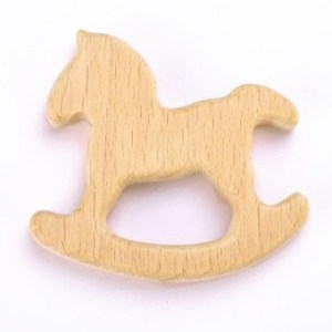 Eachgo Baby Gift Teether Chew Toys Beech Wooden Teething Toys Cute Animal Shape Chewing Pacifier (1#) - intl