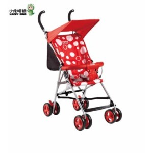 Happy Dino Buggy Lightweight Umbrella Stroller (Red)