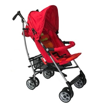 Happy Dino Luxury Lightweight Umbrella Stroller (Red)
