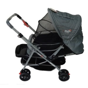 IRDY S0829A Stroller with Mosquito Net (Gray)