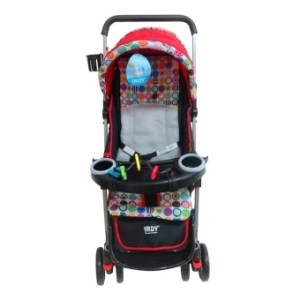 IRDY Stroller with Foodtray and Bottle Holder (Red)