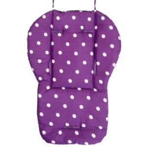 Kids Baby Dots Cotton Cartoon Double Sided Available Stroller SeatDining Chair Pad Cushion Purple - intl