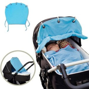 Universal Baby Stroller Ventilated Sun Shade Protection Cover WindShield Blue
