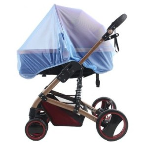 Universal Insect Mosquito Bug Safe Mesh Net Full Cover for BabyPrams Strollers Bassinets Cradles Buggy Pushchairs Blue