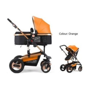 YIBAOLAI 3 in 1 Fold baby stroller luxury baby jogger pram withshock proof Famous Brand from China-orange - intl