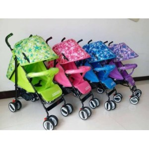 Foldable Compact Baby Stroller with Canopy Style #208 (Green)