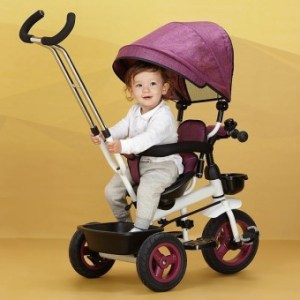 Gracefulvara tricycle pedal baby push baby stroller child bike - intl