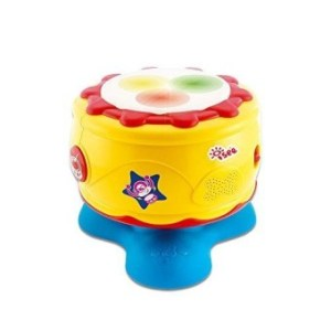 Infant Baby Bongo Drum Flash Beat - Rhythm Band Instruments-Take Along Tunes Baby Musical Toys With Lights Sounds For Toddler