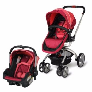 Infanti Travel System Multifunction Baby 4 Wheeled Cart Stroller with Reversible Seat and Bassinet