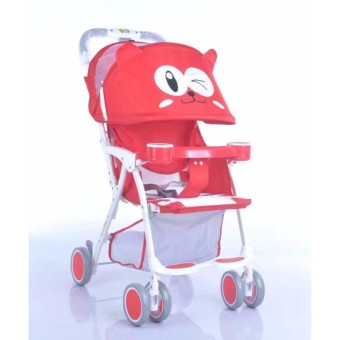 Stroller with Foodtray and Bottle Holder