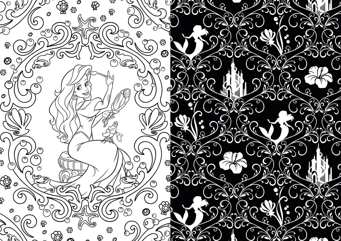 Disney Adult Coloring Books - Baby to Boomer Lifestyle   colouring pages for adults disney