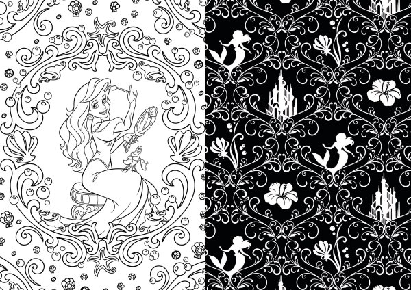 Disney Adult Therapy Coloring Book Page