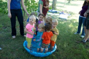 How many toddlers fit in a baby pool?