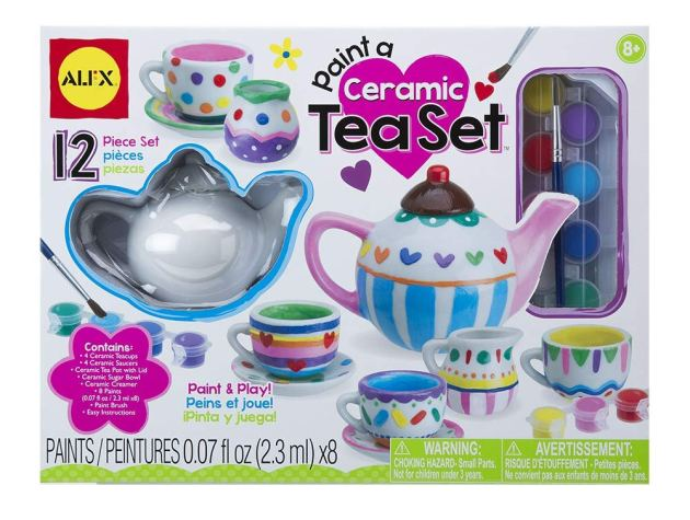 ceramic tea set for 10 year old girls