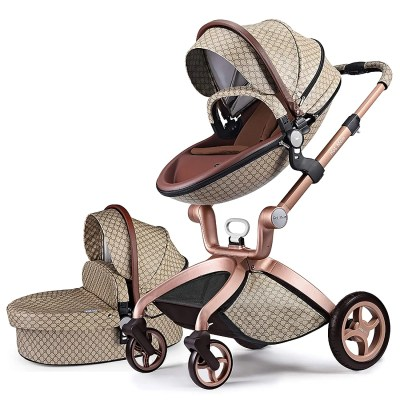 hot mom 3 in 1 travel bassinet stroller isolated on white background