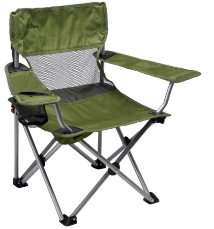 l.l. bean kids base camp chair isolated on white background