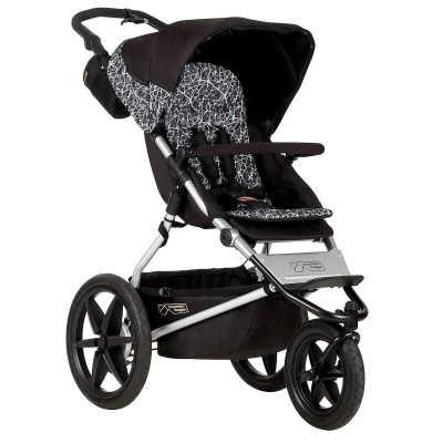 mountain buggy terrain premium jogging stroller isolated on white background