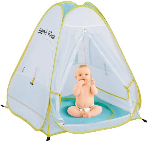 bend river pop up baby beach tent isolated on white background