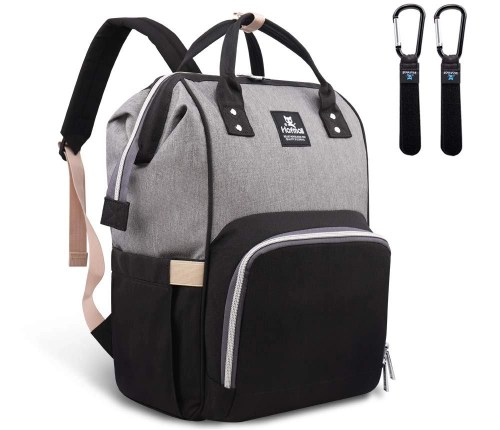 hafmall waterproof multifunctional diaper bag backpack isolated on white background