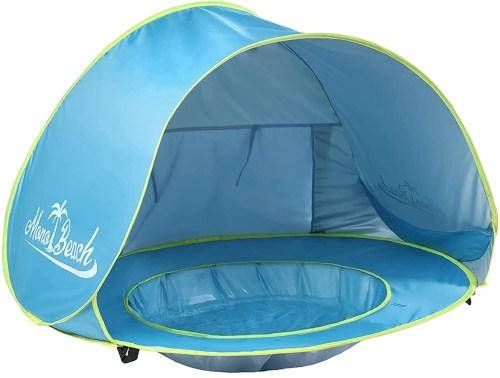 monobeach baby beach tent pop isolated on white background