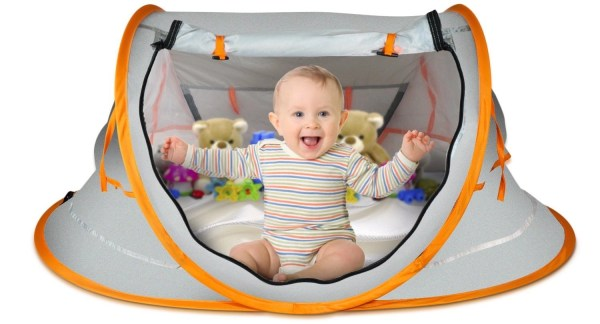overcrest portable pop up baby beach tent isolated on white background
