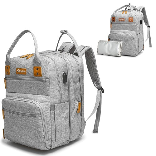 rabjen transformable baby diaper bag backpack isolated on white background