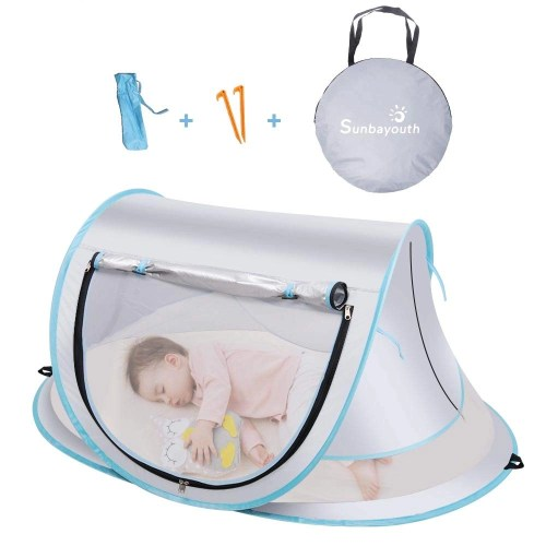 sunba youth portable baby tent isolated on white background