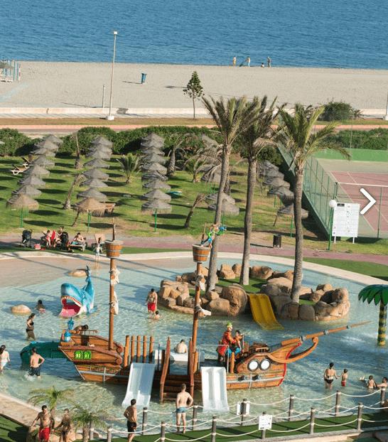 Hotel con parque acuático