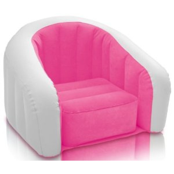 intex sofa chair pottery barn pearce reviews inflatable pink