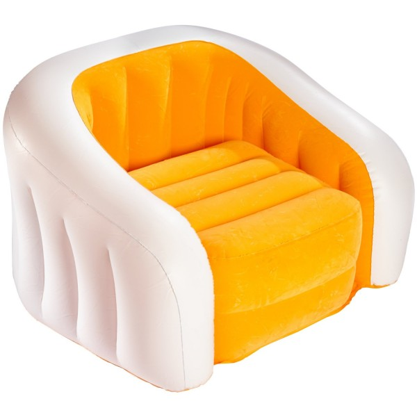 intex sofa chair theodore alexander table inflatable orange
