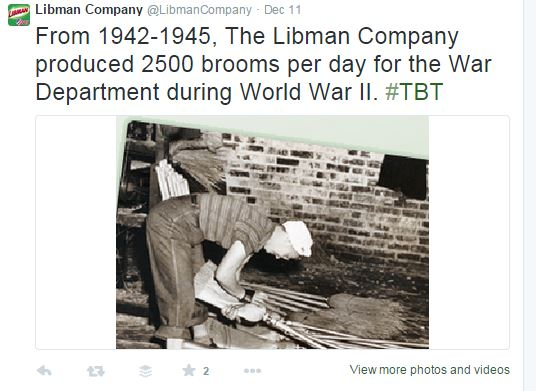 Libman Broom Production during WWII from Twitter
