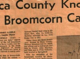 broom corn capital of the world baca county