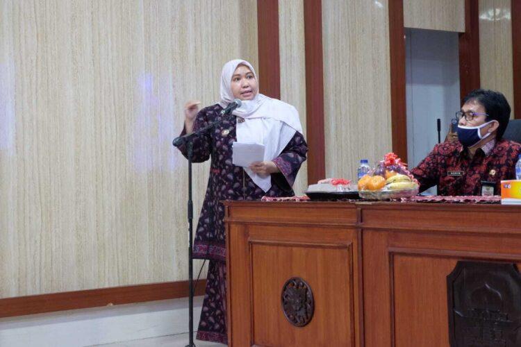 Bupati Masnah Busyro Hadiri Rakor Forum Persiapan Penilaian KKS