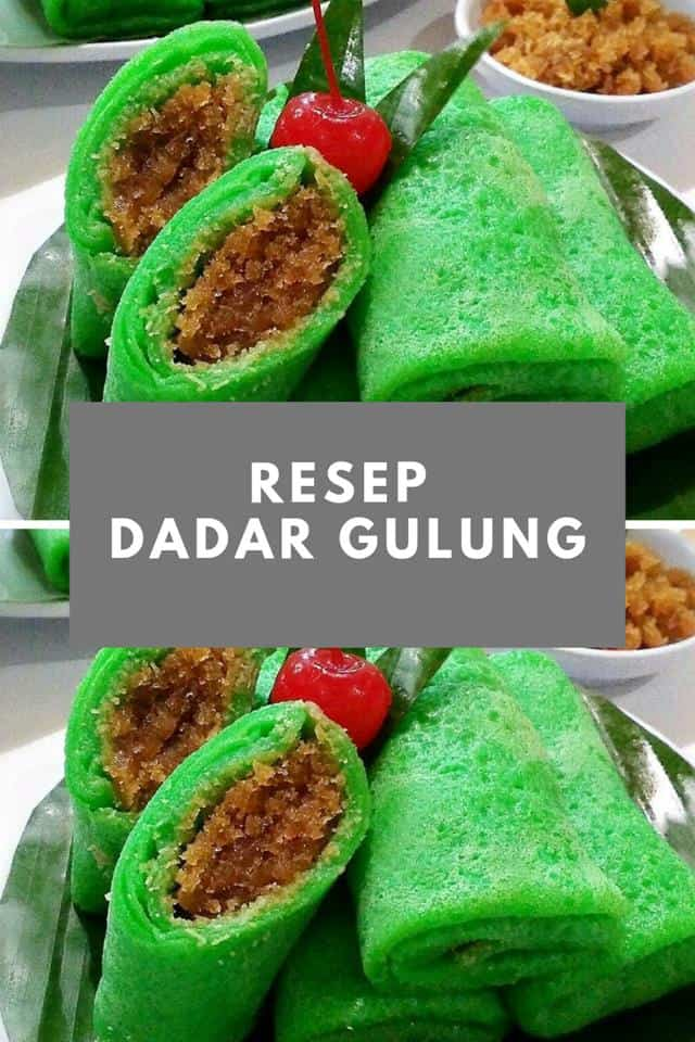 Cara Membuat Kue Dadar : membuat, dadar, Resep, Dadar, Gulung, Kelapa, Merah, Lezat