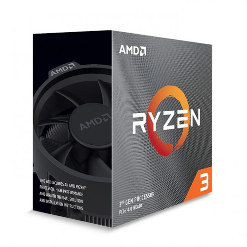 AMD Ryzen 3 3100 Desktop Processor With Wraith Stealth Cooling Solution