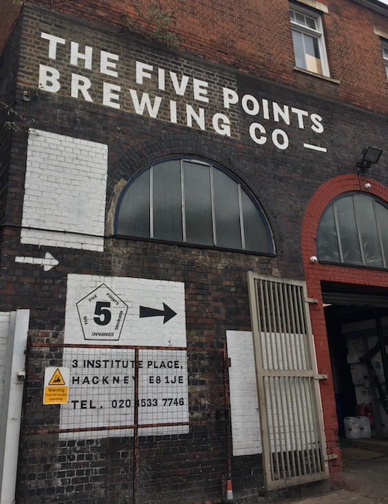 Five Points Brewery in Hackney